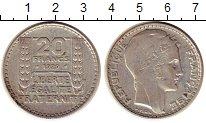 Изображение Монеты Франция 20 франков 1929 Серебро XF
