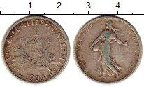 Изображение Монеты Франция 1 франк 1904 Серебро VF