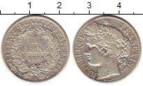 Изображение Монеты Франция 1 франк 1881 Серебро XF-