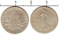 Изображение Монеты Франция 50 сантим 1899 Серебро VF