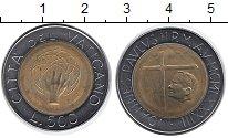 Изображение Монеты Ватикан 500 лир 1983 Биметалл UNC-