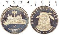 Изображение Монеты Гаити 10 гурдов 1971 Серебро Proof- Вожди племен Гаити.