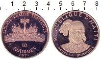 Изображение Монеты Гаити 10 гурдов 1971 Серебро Proof- Индейские вожди