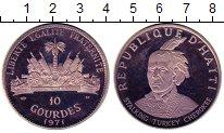 Изображение Монеты Гаити 10 гурдов 1971 Серебро Proof Серия Вожди племен Г