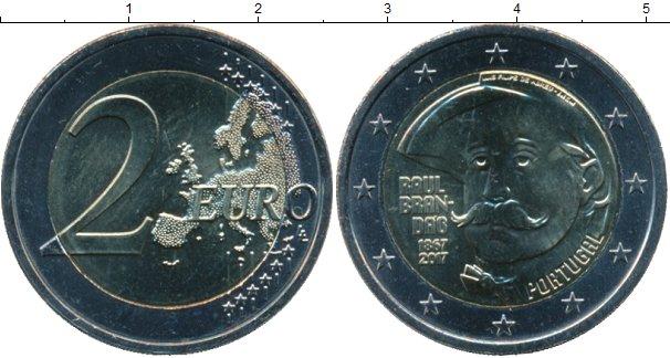 Картинка Мелочь Португалия 2 евро Биметалл 2017
