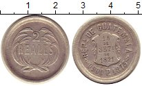 Изображение Монеты Гватемала 2 реала 1873 Серебро XF