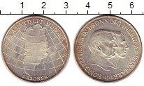 Монета Дания 2 кроны Серебро 1953 UNC- фото