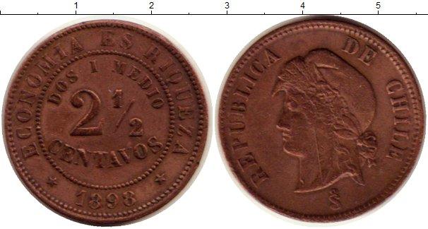 Картинка Монеты Чили 2 1/2 сентаво Медь 1898