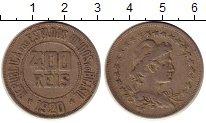 Изображение Монеты Бразилия 400 рейс 1920 Медно-никель XF