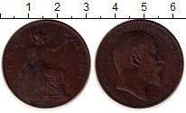 Изображение Монеты Великобритания 1 пенни 1902 Бронза XF- Эдуард VII