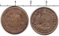 Изображение Монеты Чили 1 десим 1894 Серебро XF- Орел