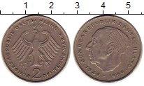 Изображение Монеты ФРГ 2 марки 1974 Медно-никель XF D   Теодор  Хойс