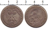 Изображение Монеты ФРГ 2 марки 1970 Медно-никель XF F   Конрад  Аденауэр