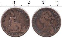 Изображение Монеты Великобритания 1 фартинг 1862 Медь VF Виктория
