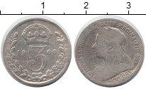 Изображение Монеты Великобритания 3 пенса 1900 Серебро VF Виктория