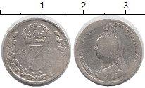 Изображение Монеты Великобритания 3 пенса 1891 Серебро VF Виктория