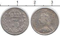 Изображение Монеты Великобритания 3 пенса 1889 Серебро VF Виктория