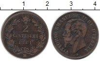 Изображение Монеты Италия 2 сентесимо 1861 Медь XF- Виктор Эммануил II