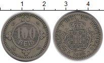Изображение Монеты Португалия 100 рейс 1900 Медь VF