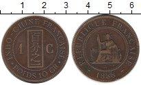 Изображение Монеты Индокитай 1 сантим 1888 Медь XF