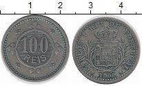 Изображение Монеты Португалия 100 рейс 1900 Медно-никель XF