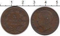 Изображение Монеты Португалия 10 рейс 1884 Медь VF Луиш I