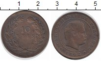 Изображение Монеты Португалия 10 рейс 1892 Медь XF Карлуш I