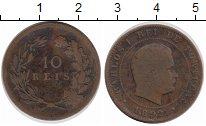 Изображение Монеты Португалия 10 рейс 1892 Медь VF Карлуш I