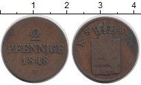 Изображение Монеты Саксония 2 пфеннига 1848 Медь VF F