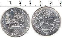 Изображение Монеты Италия 500 лир 1992 Серебро UNC- 500 лет открытия Аме