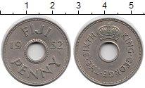 Изображение Монеты Фиджи 1 пенни 1952 Медно-никель XF