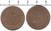 Изображение Монеты Монако 10 франков 1982 Бронза XF