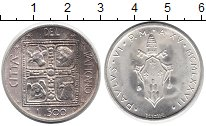Изображение Монеты Ватикан 500 лир 1977 Серебро UNC-