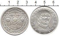 Изображение Монеты Италия 1.000 лир 2000 Серебро UNC Джордано Бруно