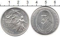 Изображение Монеты Италия 1.000 лир 1994 Серебро UNC- Тинторетто