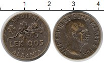Изображение Монеты Албания 0,05 лек 1940 Латунь XF Виктор Эммануил III