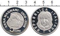 Изображение Монеты Италия 5 евро 2008 Серебро Proof Киноактриса Анна Ман
