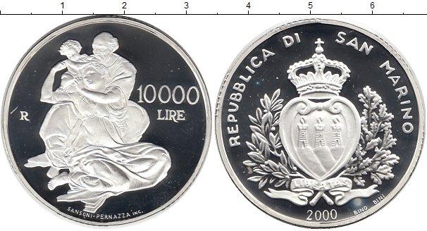 Картинка Монеты Сан-Марино 10.000 лир Серебро 2000