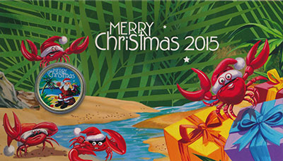 Изображение Подарочные монеты Австралия 1 доллар 2015  UNC Желаем Вам самого ве