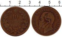 Изображение Монеты Италия 10 чентезимо 1866 Бронза VF Витторио Имануил II