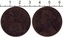 Изображение Монеты Великобритания 1 пенни 1876 Бронза VF Виктория.