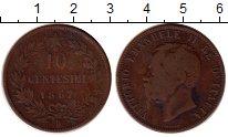 Изображение Монеты Италия 10 чентезимо 1867 Медь VF Витторио Имануил II
