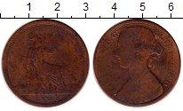 Изображение Монеты Великобритания 1 пенни 1865 Медь VF Виктория.