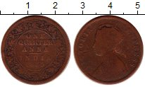 Изображение Монеты Индия 1/4 анны 1885 Бронза VF