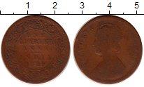 Изображение Монеты Индия 1/4 анны 1889 Бронза VF Виктория.