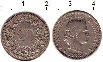 Изображение Монеты Швейцария 20 рапп 1883 Медно-никель XF