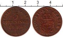 Изображение Монеты Пруссия 3 пфеннига 1864 Медь VF