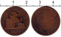 Изображение Монеты Бельгия 2 сантима 1873 Медь VF