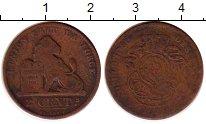 Изображение Монеты Бельгия 2 сантима 0 Медь VF