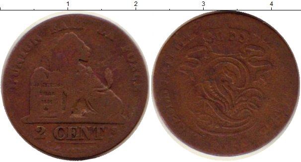 Картинка Монеты Бельгия 2 сантима Медь 1854